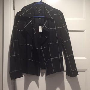 Talbots black and white blazer